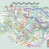 Colourful MRT lines show that public transport is gay