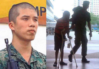 The NSF's kind deed has earned him a medal and SAF better publicity.