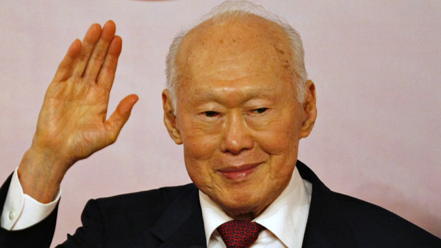 Singaporean Minister Mentor Lee Kuan Yew