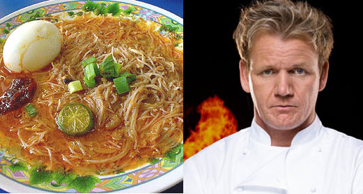 Singapore government throws a curve ball at Gordon Ramsay by getting him to cook something that doesn't even exist since he so cocksure he can cook everything
