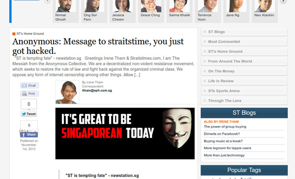 THE REAL SINGAPORE applies censorship to The Messiahs message.