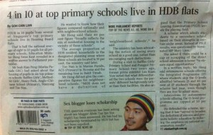 Wow! More good news from The Straits Times.