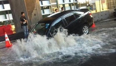 Sinkholes are meant to be shut during the day to prevent cars from falling in and causing ponding to surrounding areas