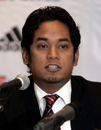 Malaysian politician Khairy Jamaluddin speaks during a news conference in Kuala Lumpur