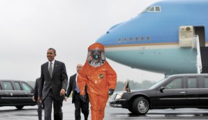 Obama escorted away by military personnel