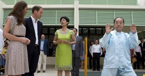 Indranee Rajah was trying to explain to Will and Kate why they are staring at an old man dressed in blue traditional Ip Man costume pushing an imaginary wall while concealing her surprise that it is not only in movies that you get these sort of thing.