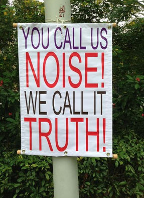 """Could be edited as: """"We speak truth!"""""""
