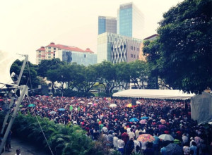 Hong Lim Park protest draws a crowd of between 1,000 and 45,000 people, depending on who you ask. (Photo stolen from Choon Hiong)